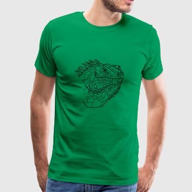 Iguana Line Art - Men's Premium T-Shirt
