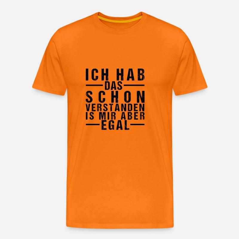 Ligegyldigt til mig sjove ordsprog Sarkamus Humor gave Herre premium T shirt orange