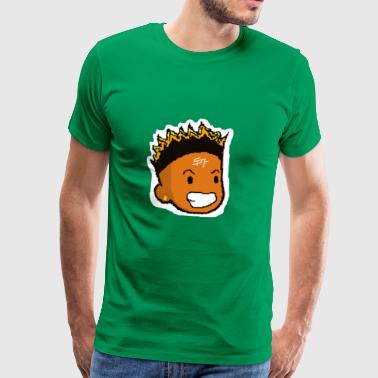 Yae Cheetah's Face with Samuel Boomer Logo - Men's Premium T-Shirt
