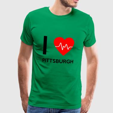 I Love Pittsburgh - I love Pittsburgh - Men's Premium T-Shirt
