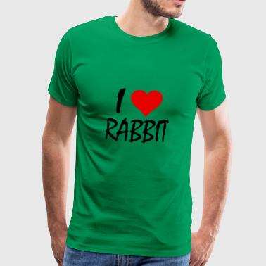 I LOVE RABBIT - Men's Premium T-Shirt