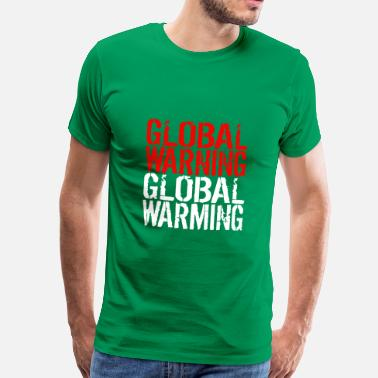 Biosphere Global Warning - Global Warming - Men's Premium T-Shirt