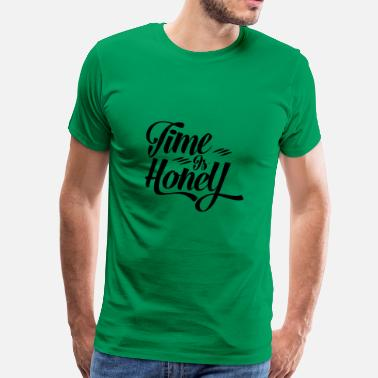 Alternatieve Time is Hony Alternatieve manier van leven om te consumeren - Mannen Premium T-shirt