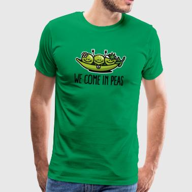 We come in peas / peace - Mannen Premium T-shirt