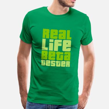 Taketv Real Life Beta Tester (Lime) - Männer Premium T-Shirt