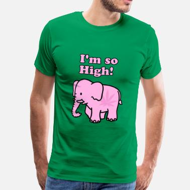 Pink Elephant I'm so High! Pink Elephant - Männer Premium T-Shirt