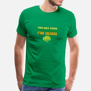 Cabbage Funny You Bet Your Bacon & Cabbage I'm Irish St Patricks - Men's Premium T-Shirt