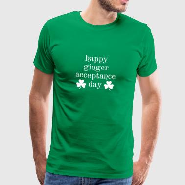 Happy Ginger Acceptance Day Fun Ireland Clover - Mannen Premium T-shirt