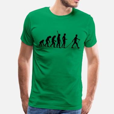 Nordic evolution_nordic_walking - Mannen Premium T-shirt