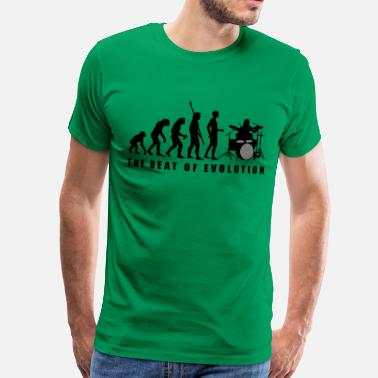 Drums evolution_drummer_c_2c - Mannen Premium T-shirt