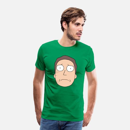 Officialbrands T-Shirts - Rick and Morty Jerry Smith - Men's Premium T-Shirt kelly green