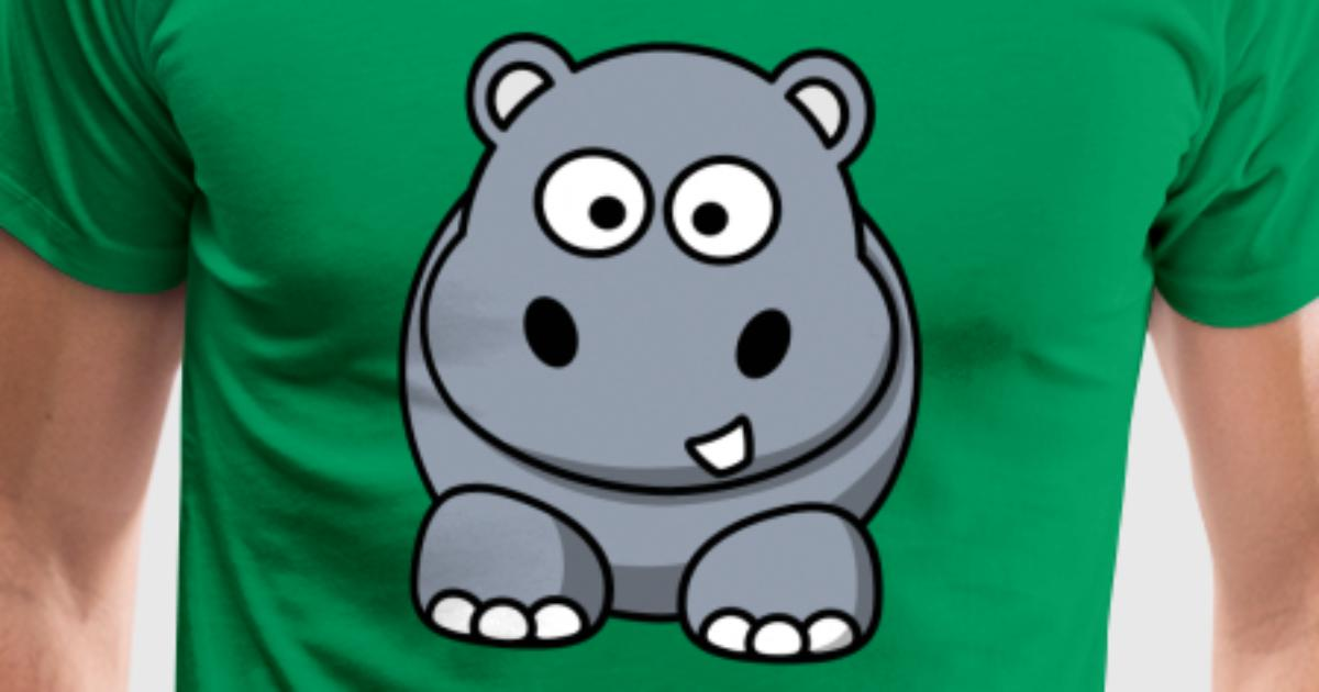 Maglietta con hippo cartone animato dolce spreadshirt