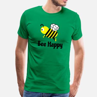Sød bee happy cute bee bee glad sød bi - Herre premium T-shirt