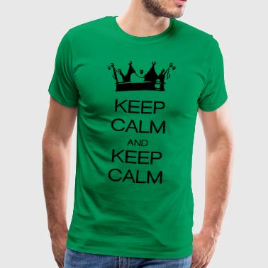 keep calm and keep calm - Herre premium T-shirt