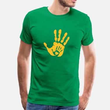 Hand In Hand Baby Hand in Hand with Heart - Premium T-skjorte for menn