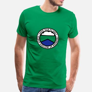 Eco Warrior earthwarriorgreen_3f - Men's Premium T-Shirt