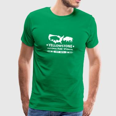 Buffalo Bison Büffel Yellowstone Nationalpark USA - Männer Premium T-Shirt