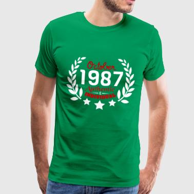 1987 Year Authentic & Individual since October 1987 - Men's Premium T-Shirt