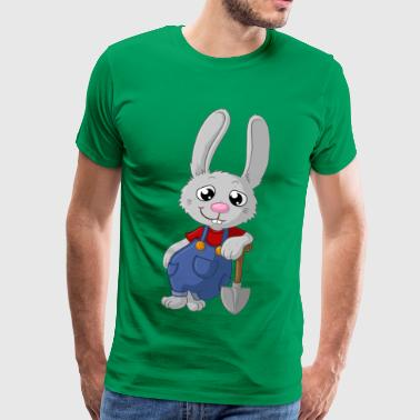 Hardworking cartoon easter bunny - Men's Premium T-Shirt