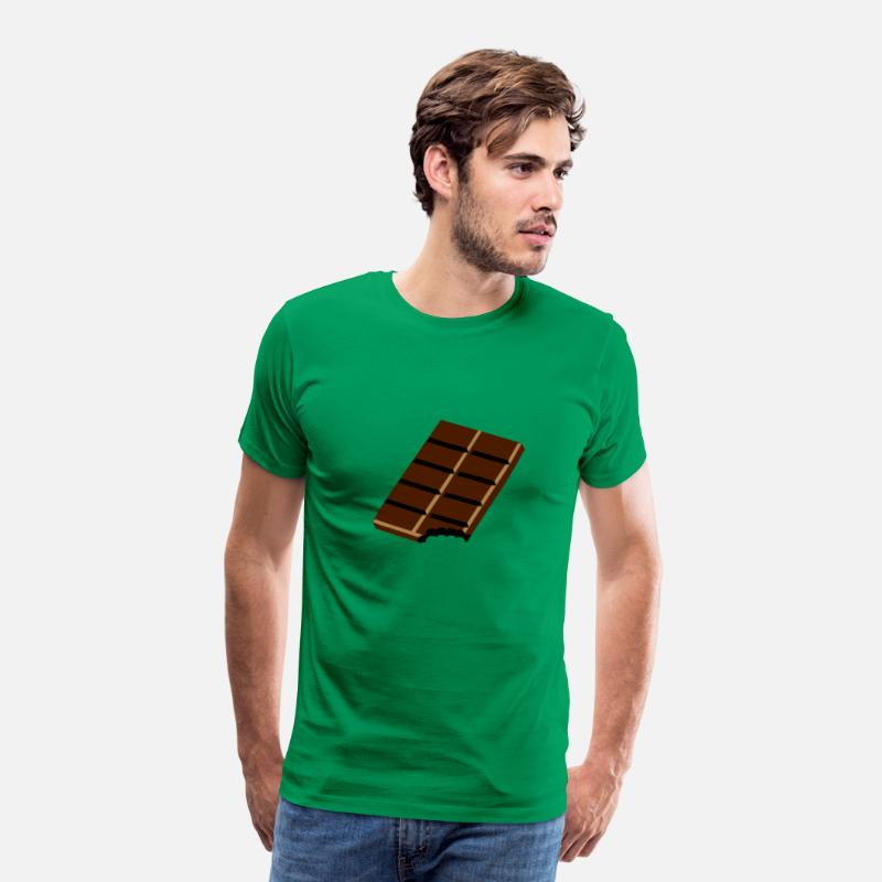 Chocolate Camisetas - A chocolate bar - Camiseta premium hombre verde