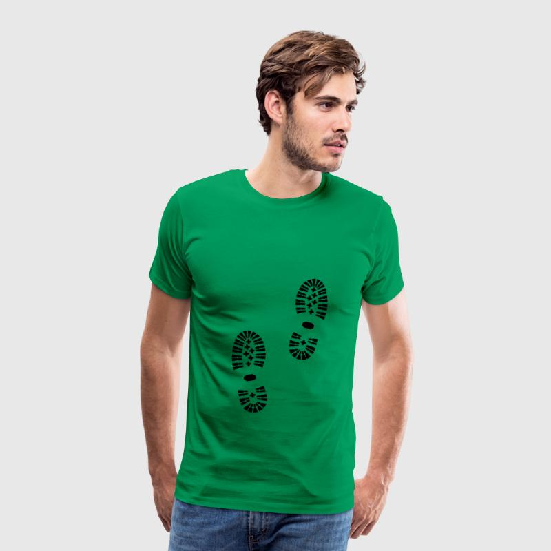 Shoeprint, Shoes, Footprint - Men's Premium T-Shirt
