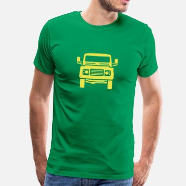 Land Rover Landie Defender illustration - Autonaut.com - Men's Premium T-Shirt