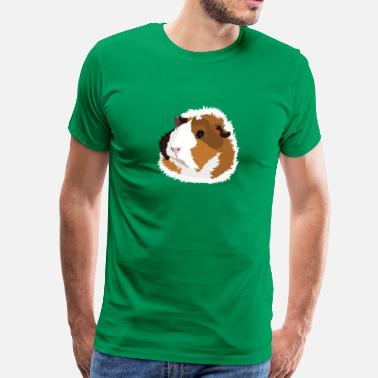 Retro Guinea Pig 'Elsie' (no text) - Men's Premium T-Shirt