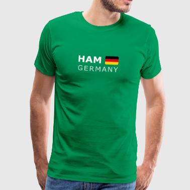 HAM GERMANY GF white-lettered 400 dpi - Men's Premium T-Shirt