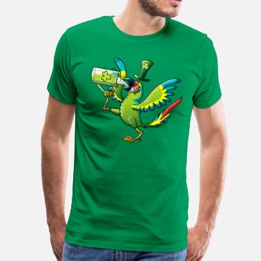 All Saints Day Saint Patrick's Day Macaw - Men's Premium T-Shirt