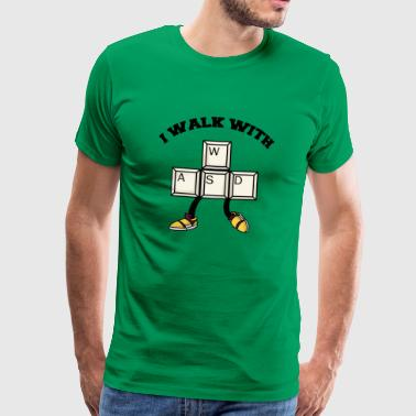 Gamer WASD shirt - Men's Premium T-Shirt
