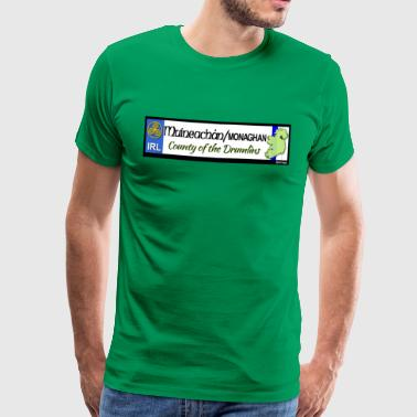 MONAGHAN, IRELAND: licence plate tag style decal - Men's Premium T-Shirt