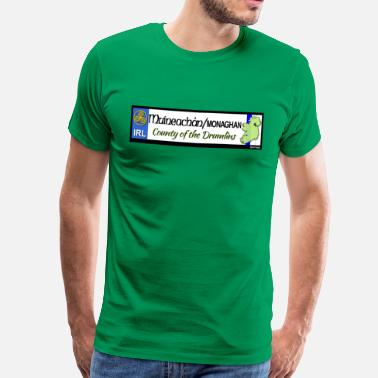 Gaa MONAGHAN, IRELAND: licence plate tag style decal - Men's Premium T-Shirt