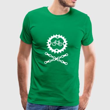 Bike Chain Skull and Crossbones - Men's Premium T-Shirt