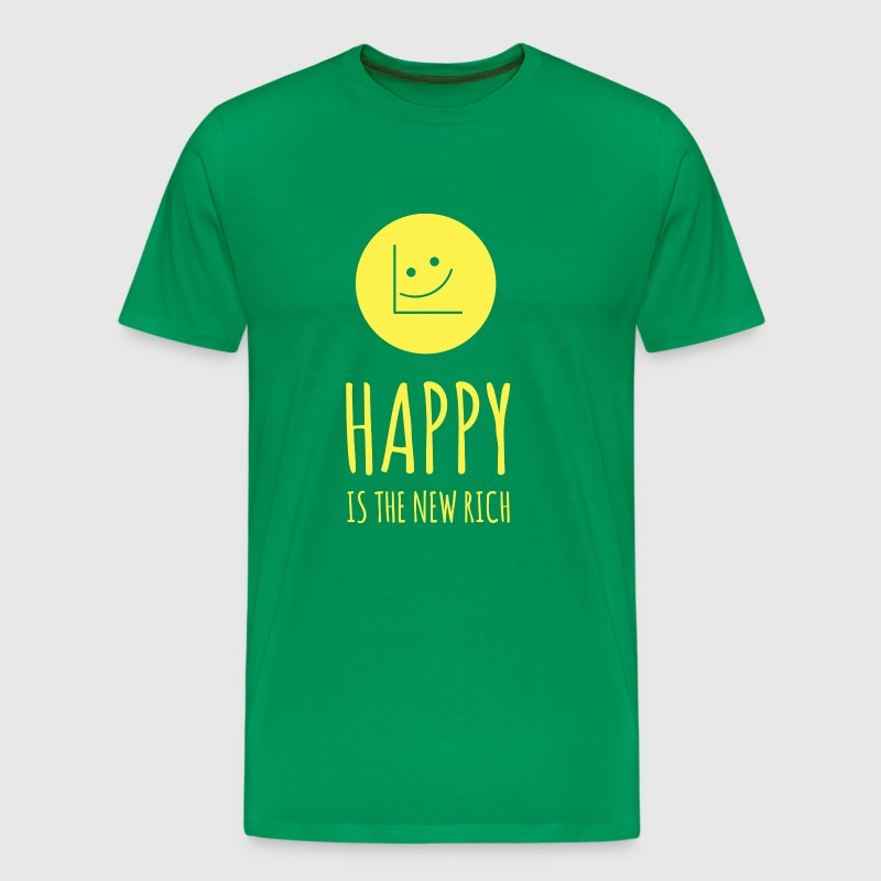 Happy Is The New Rich T-shirt - Men's Premium T-Shirt