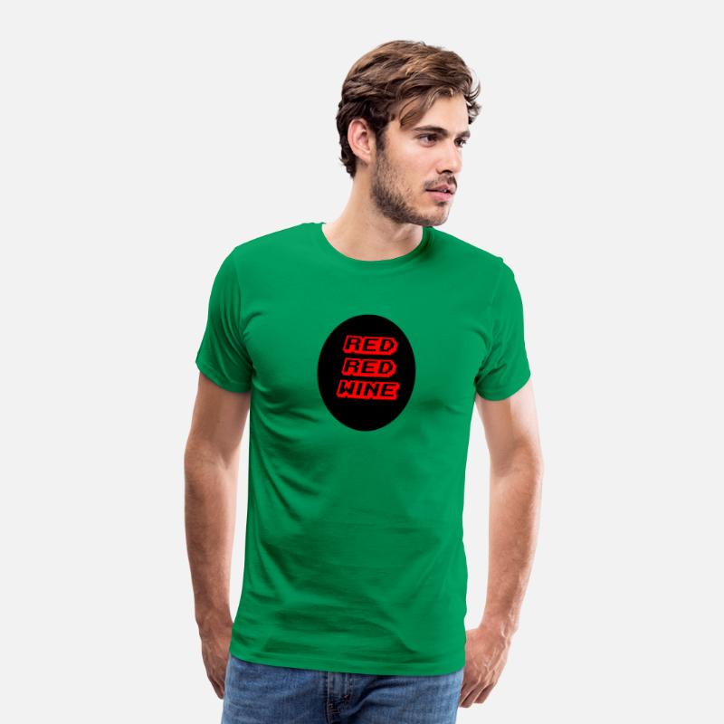 Wine Glass T-Shirts - red red wine - Men's Premium T-Shirt kelly green