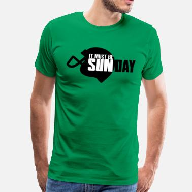 Fotboll It must be Sunday - Men's Premium T-Shirt