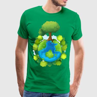 tree forest nature planet - Männer Premium T-Shirt