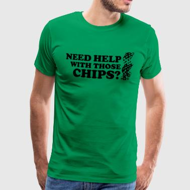 Chipleader Poker: Need help with those chips? - Mannen Premium T-shirt