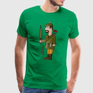 Archer Robin Hood | Archery arrows - Men's Premium T-Shirt