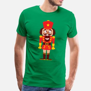 Cracker A Christmas nutcracker is a tooth cracker - Men's Premium T-Shirt