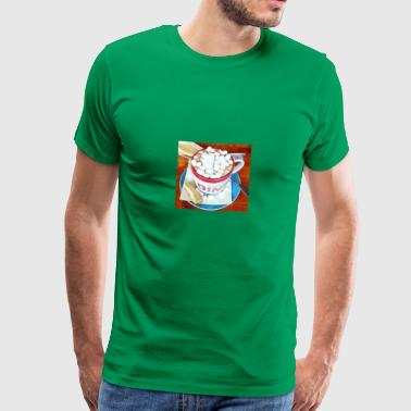 Cocoa with marshmallows - Men's Premium T-Shirt