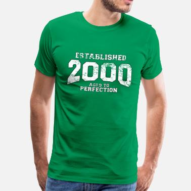 2000 established 2000 - aged to perfection (sv) - Premium-T-shirt herr