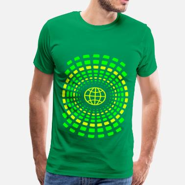 Neon Light Rings of Earth - Men's Premium T-Shirt