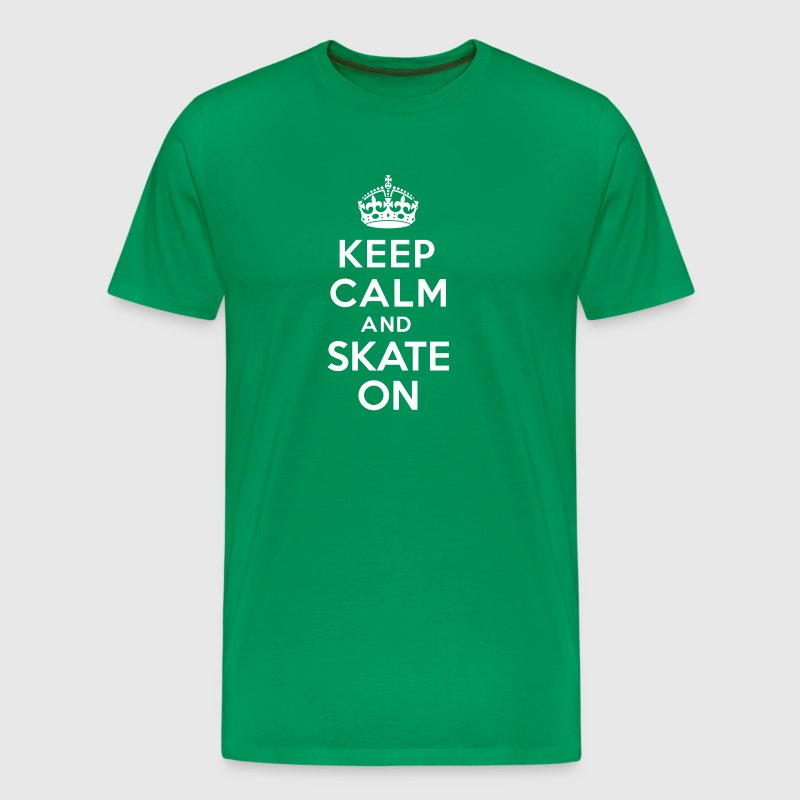 Keep calm skate on - T-shirt Premium Homme