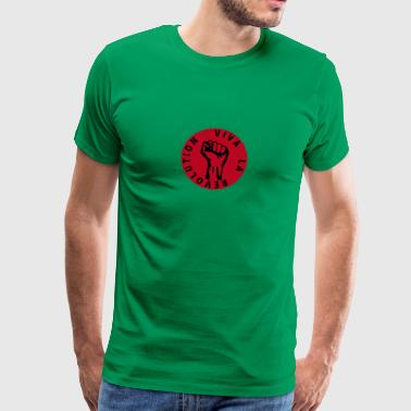 Working Class 2 colors - Viva la Revolution - Working Class Unity Against Capitalism - Premium T-skjorte for menn