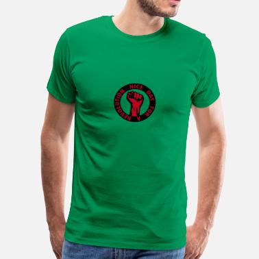Socialisme 2 colors - nice day for a revolution - against capitalism working class war revolution - Herre premium T-shirt