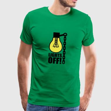 Bulb Lights off | Light bulb - Men's Premium T-Shirt