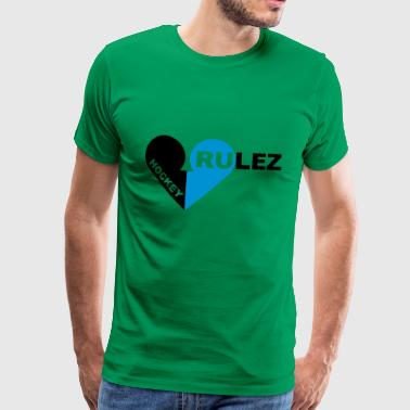 Hockey rulez 2-colours - Premium-T-shirt herr