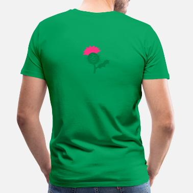 Flower Of Scotland Thistle single head flower of Scottish Thistle Scotland - Men's Premium T-Shirt
