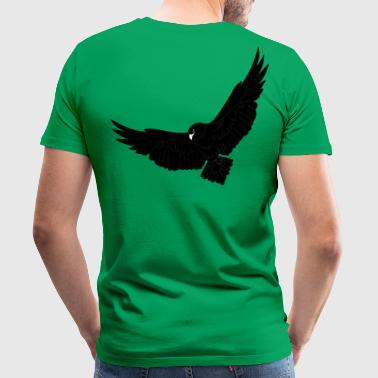Flying Bird Eagle, eagle head, bird, animal, fly, nature, - Men's Premium T-Shirt